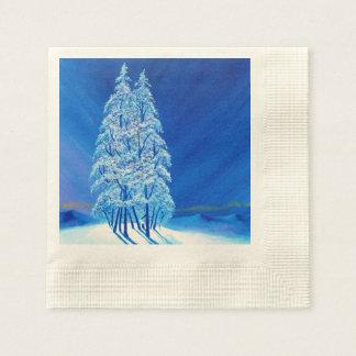 Navidad azul # 2 servilleta desechable
