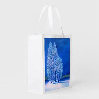 Navidad azul # 3 bolsas para la compra