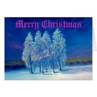 Navidad azul #4 tarjeta de felicitación