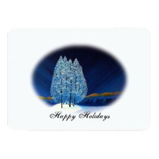 Navidad azul #6 invitaciones personales