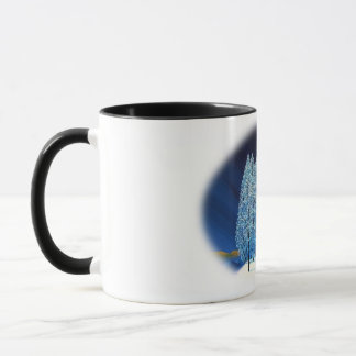 Navidad azul #6 taza