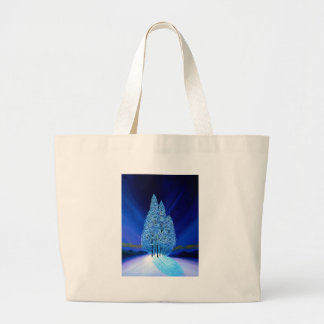 Navidad azul #7 bolsa tela grande