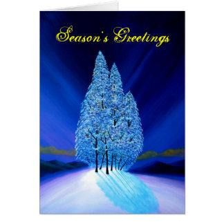 Navidad azul #7 tarjeta de felicitación