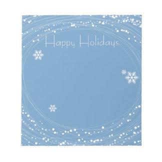 navidad azul libretas para notas