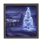 navidad azul cajas de recuerdo de calidad