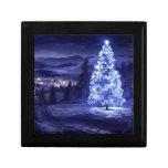 navidad azul cajas de regalo