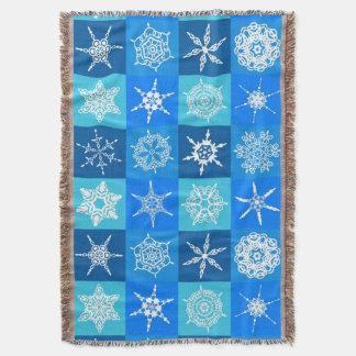 Navidad azul de los copos de nieve de Lapis afgano Manta
