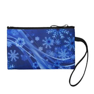 Navidad azul de los copos de nieve del invierno