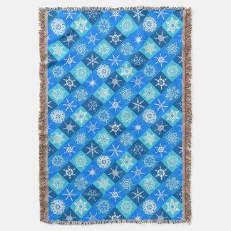 Navidad azul del copo de nieve de Lapis afgano Manta