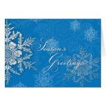 Navidad azul - escamas de la nieve - el saludo de  felicitación