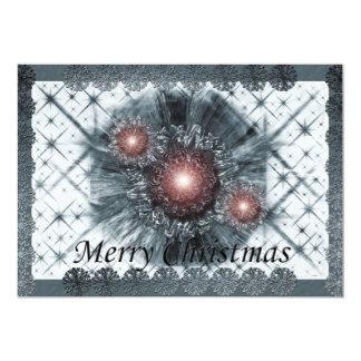 """Navidad azul invitación 5"""" x 7"""""""
