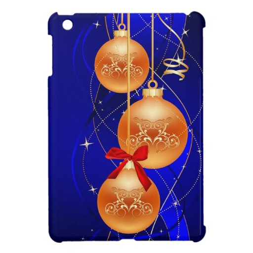 Navidad azul iPad mini cobertura