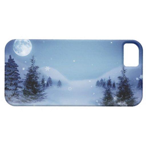 Navidad azul iPhone 5 funda