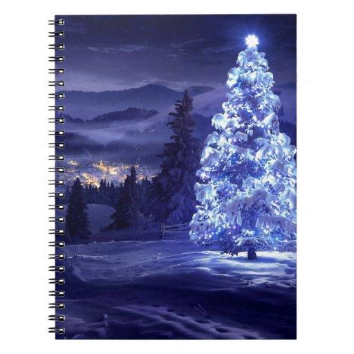 navidad azul libros de apuntes