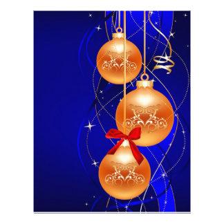 Navidad azul membrete a diseño