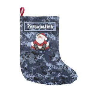 Navidad azul militar de los E.E.U.U. Camo que Calcetín De Navidad Pequeño
