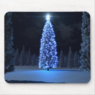 Navidad azul Mousepad
