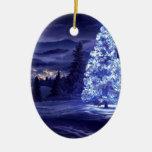 navidad azul ornaments para arbol de navidad
