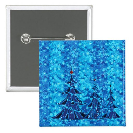 Navidad azul pin