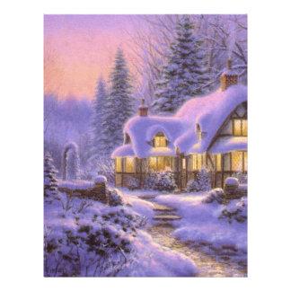 Navidad azul plantillas de membrete