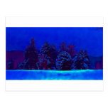 Navidad azul postal