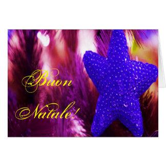 Navidad azul STAR-II de Buon Natale del navidad Tarjeta De Felicitación
