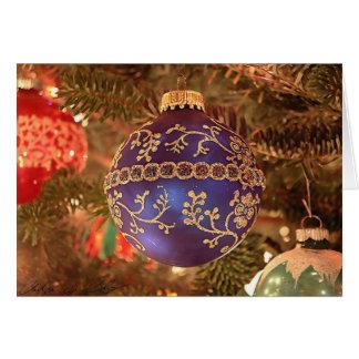 Navidad azul felicitaciones