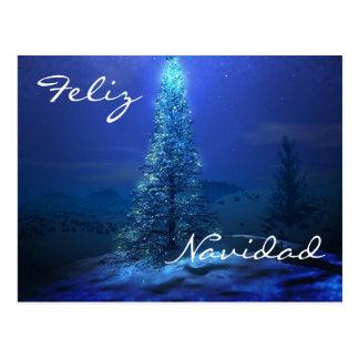 Navidad Azul Tarjetas Postales