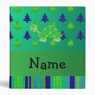 """Navidad azulverde personalizado de la tortuga carpeta 1"""""""