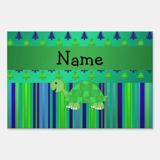 Navidad azulverde personalizado de la tortuga cono