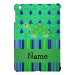 Navidad azulverde personalizado de la tortuga cono iPad mini protector