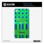 Navidad azulverde personalizado de la tortuga cono iPhone 4 calcomanías