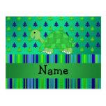 Navidad azulverde personalizado de la tortuga postal
