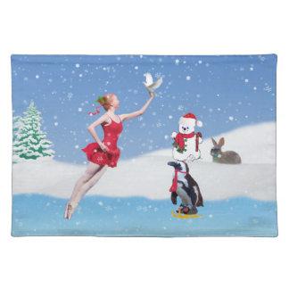 Navidad, bailarina, país de las maravillas del inv mantel