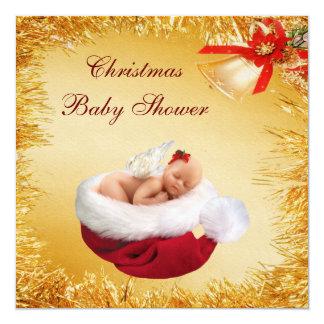 Navidad bebé, gorra de Santa y fiesta de