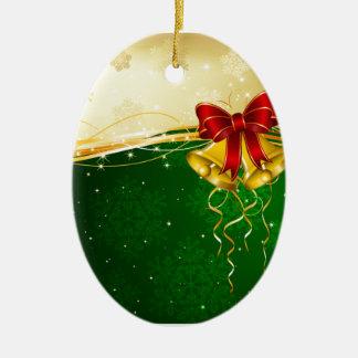 Navidad Belces Adorno Navideño Ovalado De Cerámica