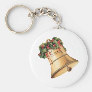 Navidad Belces de oro, los saludos del vintage de Llavero Redondo Tipo Pin