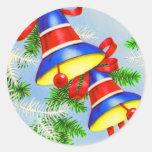 Navidad Belces del navidad del vintage Etiqueta Redonda