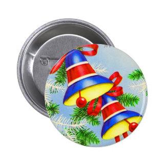 Navidad Belces del navidad del vintage Pin Redondo De 2 Pulgadas