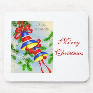 Navidad Belces del navidad del vintage Alfombrillas De Ratón