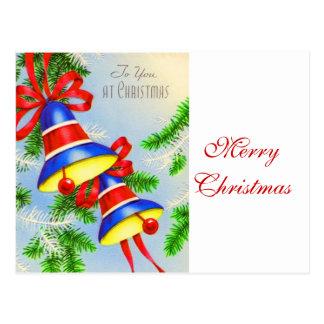 Navidad Belces del navidad del vintage Tarjeta Postal
