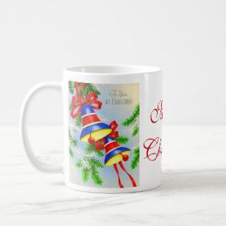 Navidad Belces del navidad del vintage Taza