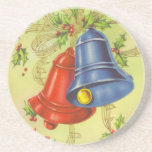 Navidad Belces del vintage Posavasos Personalizados