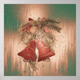 Navidad Belces del vintage Póster