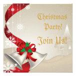 Navidad Belces e invitación roja del fiesta de las