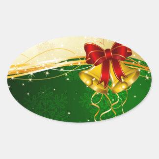 Navidad Belces Pegatina Ovalada