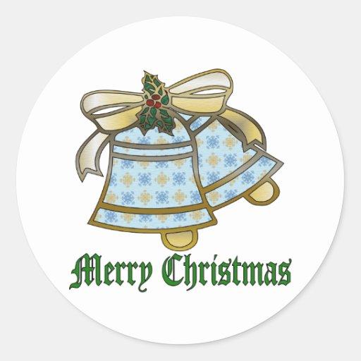 Navidad Belces Pegatina Redonda