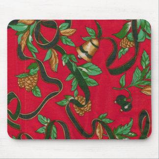Navidad Belces y conos del pino Mousepad