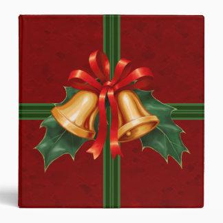 """Navidad Belces y hojas del acebo rojas Carpeta 1 1/2"""""""