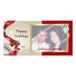 Navidad Belces y tarjeta de la foto de las cintas Tarjeta Fotográfica Personalizada
